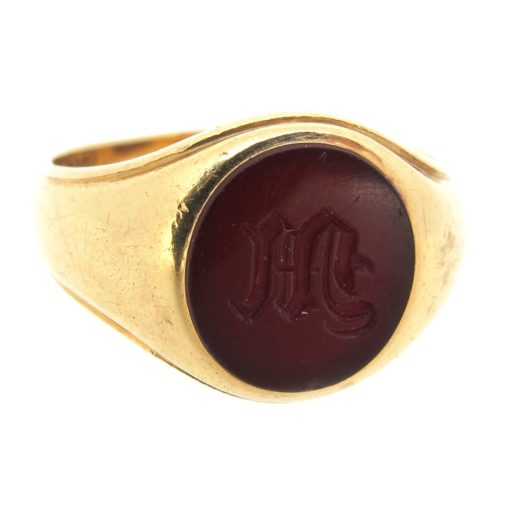 Antique Carved Carnelian Signet Ring