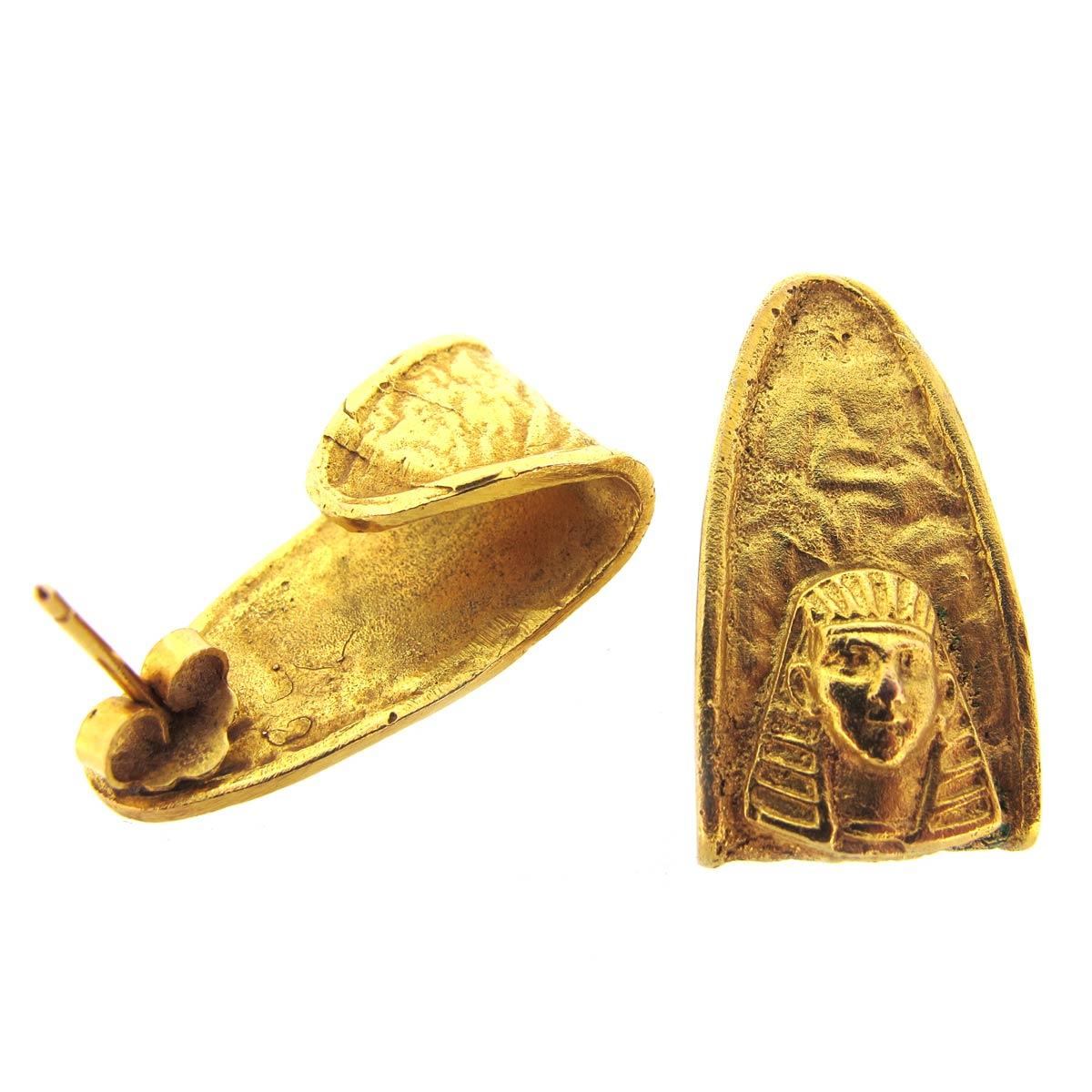 Gold Egyptian Earrings