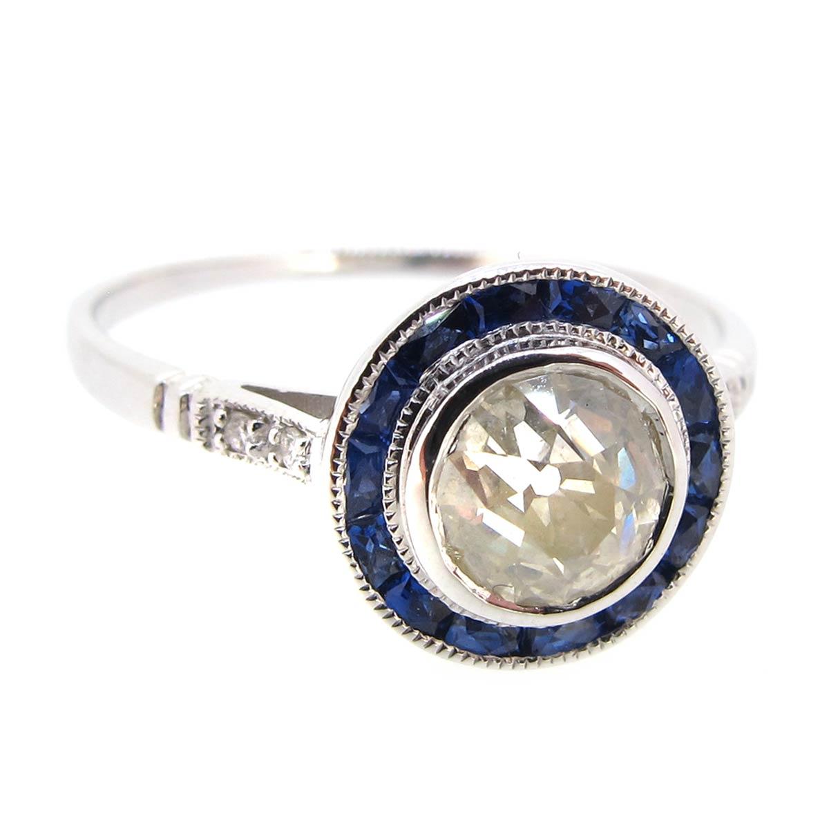 Diamond & Sapphire Target Ring
