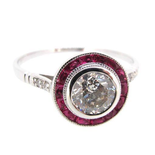 Diamond & Ruby Target Ring