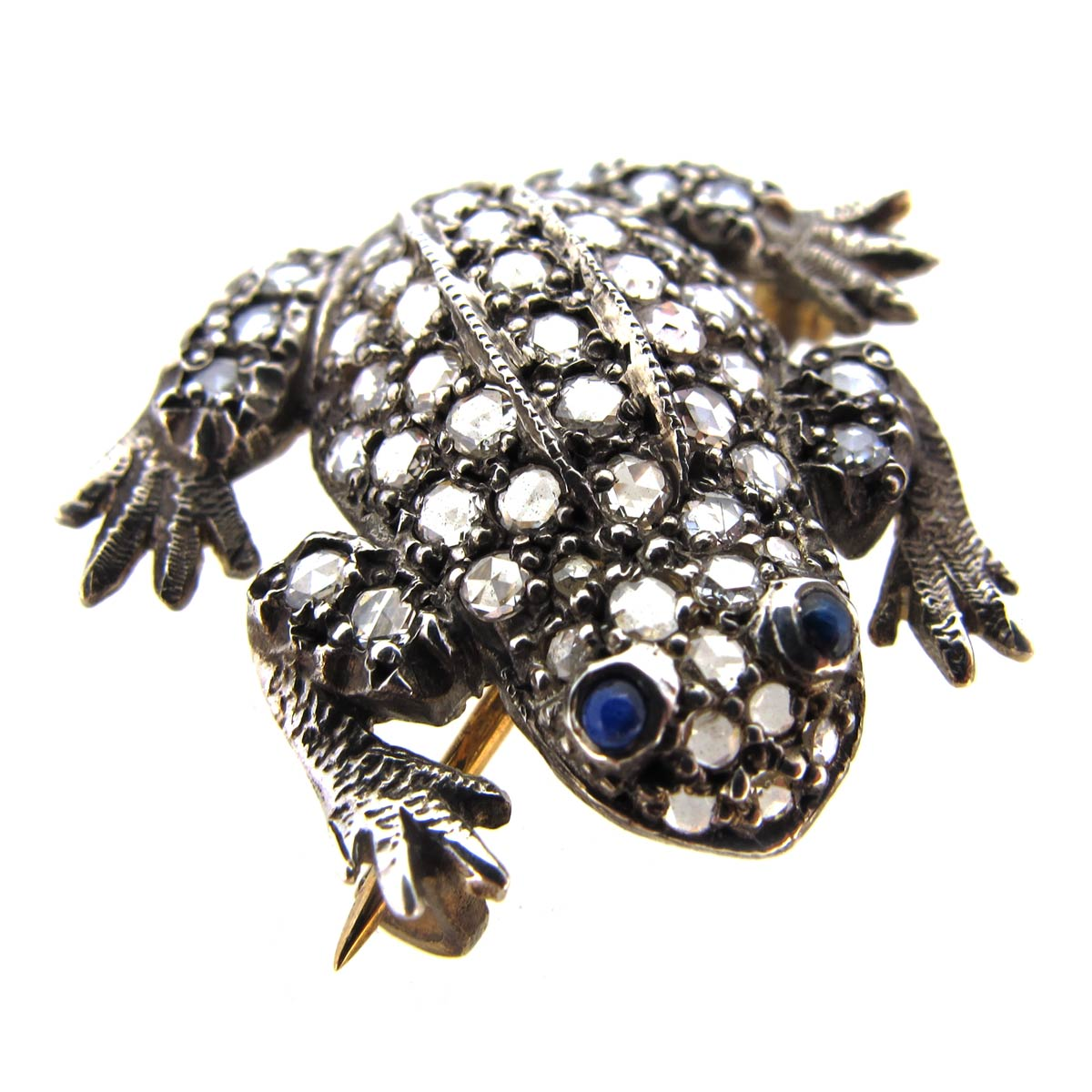 Diamond Frog Brooch