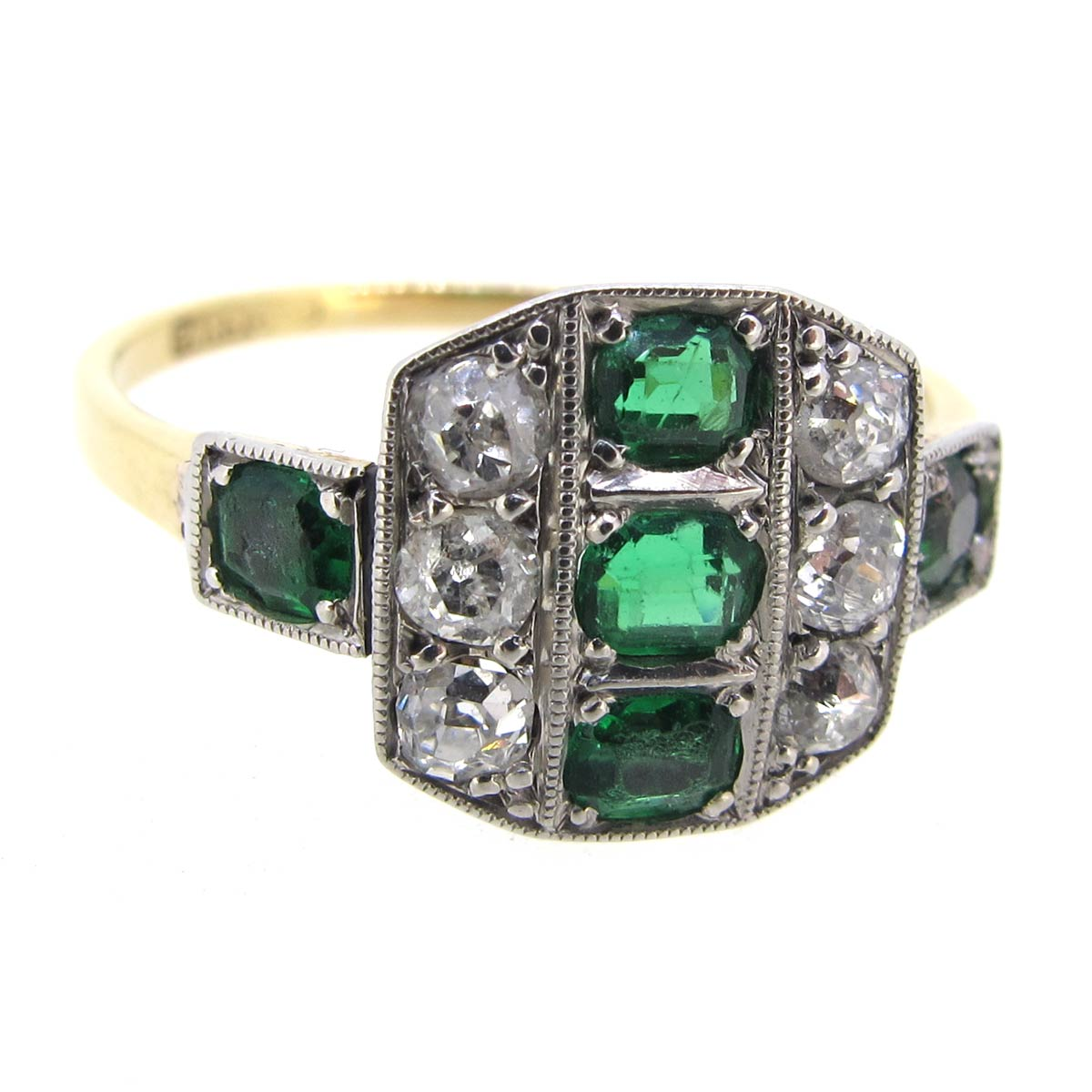 Art Deco Emerald & Diamond Ring