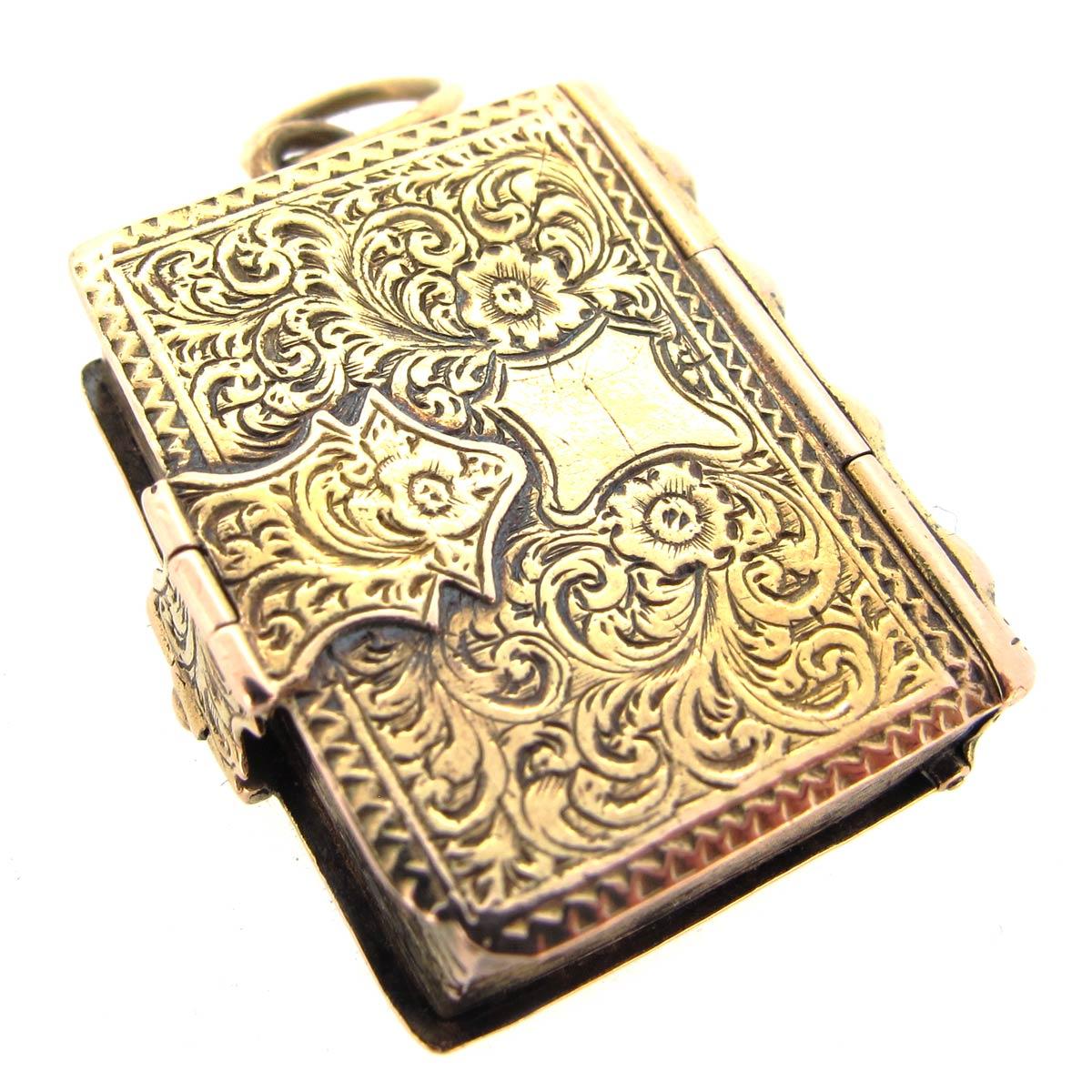 Antique Gold Book Locket