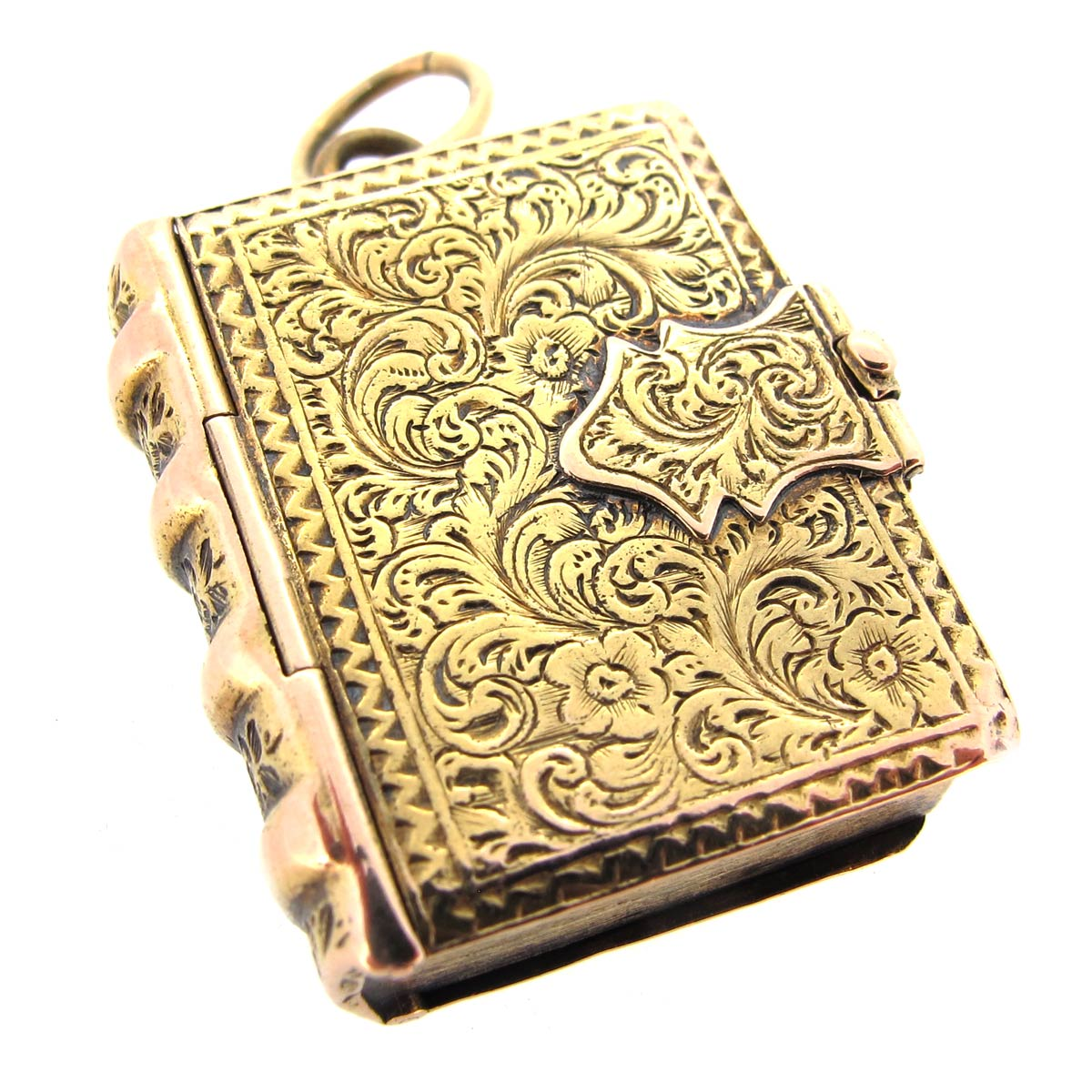 Antique Gold Book Locket