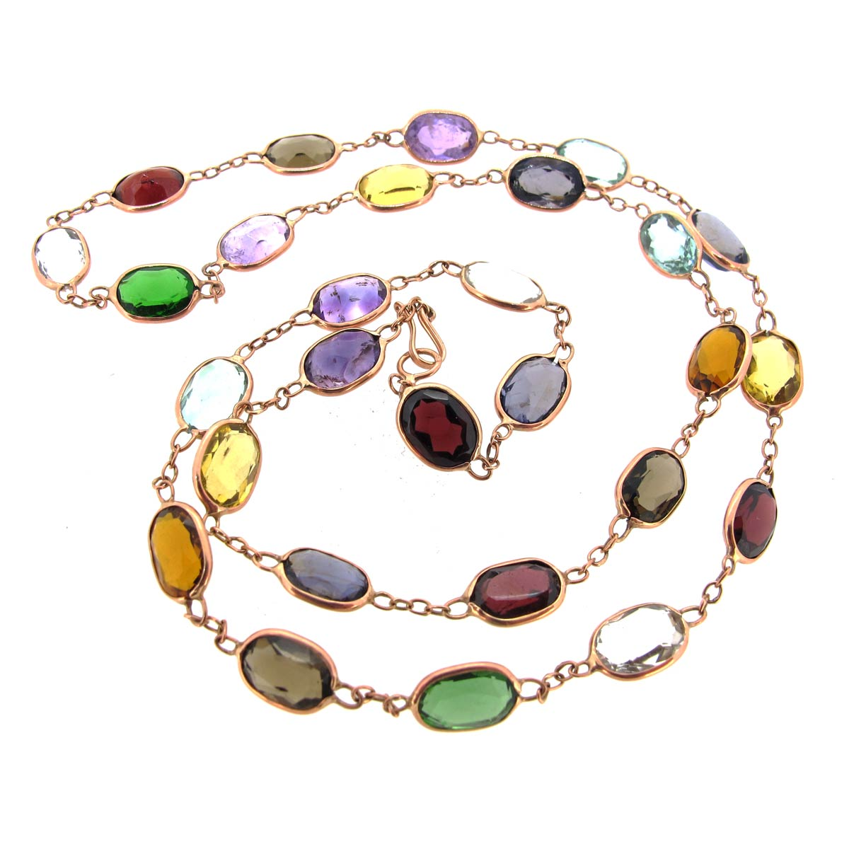 Gold & Multi-Gem Necklace