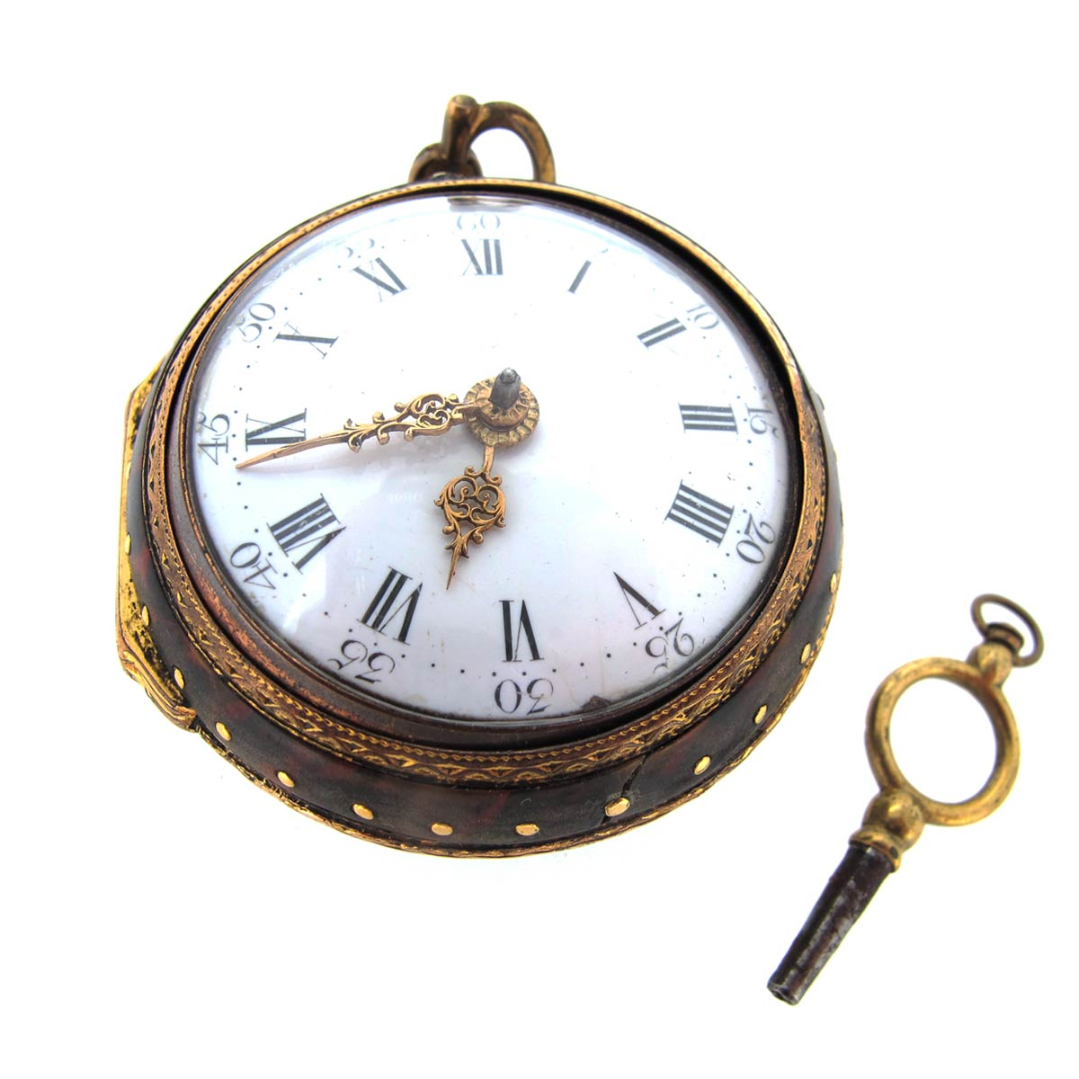 Antique Pocket Watch in Enamel Case
