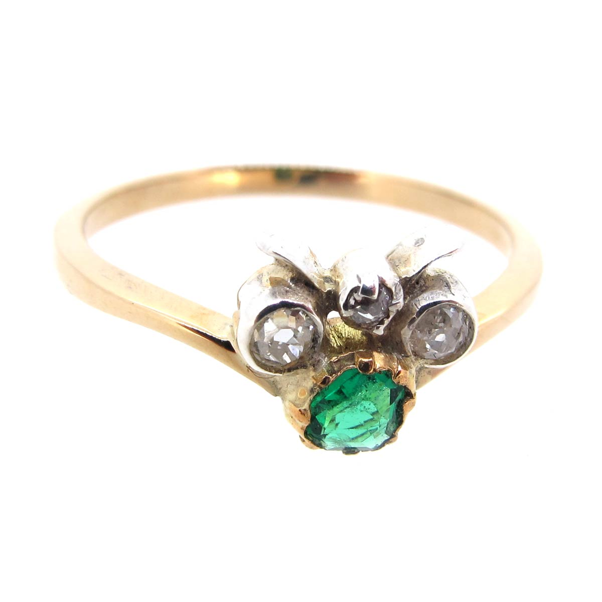 Emerald & Diamond Bug Ring