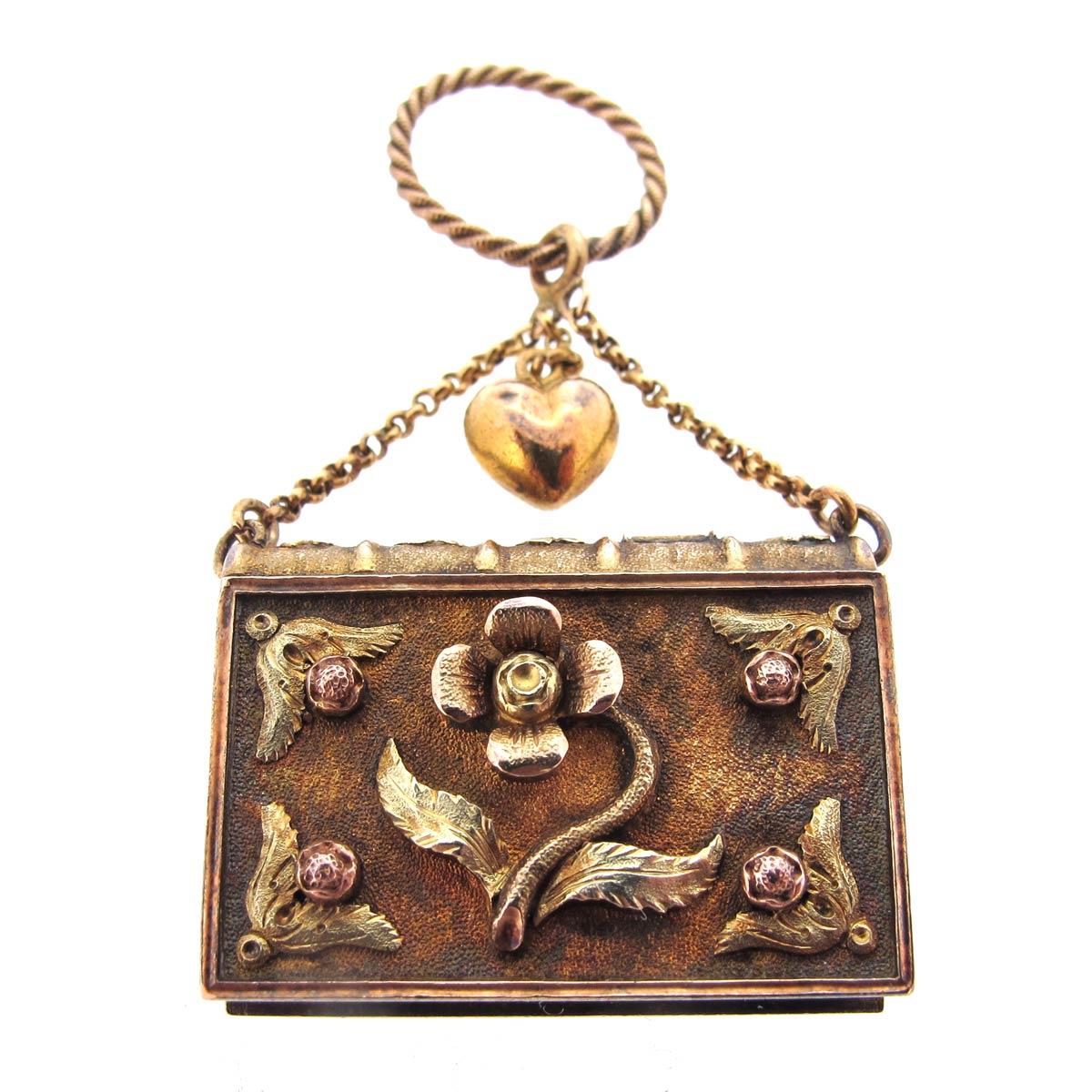 Gold, Emerald & Ruby Box Pendant