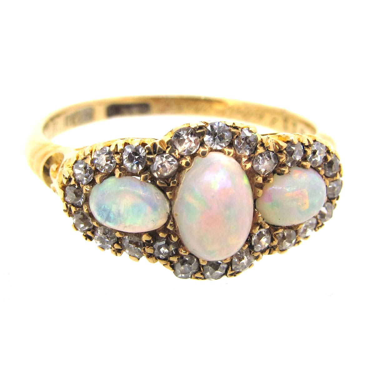 Edwardian Opal & Diamond Ring