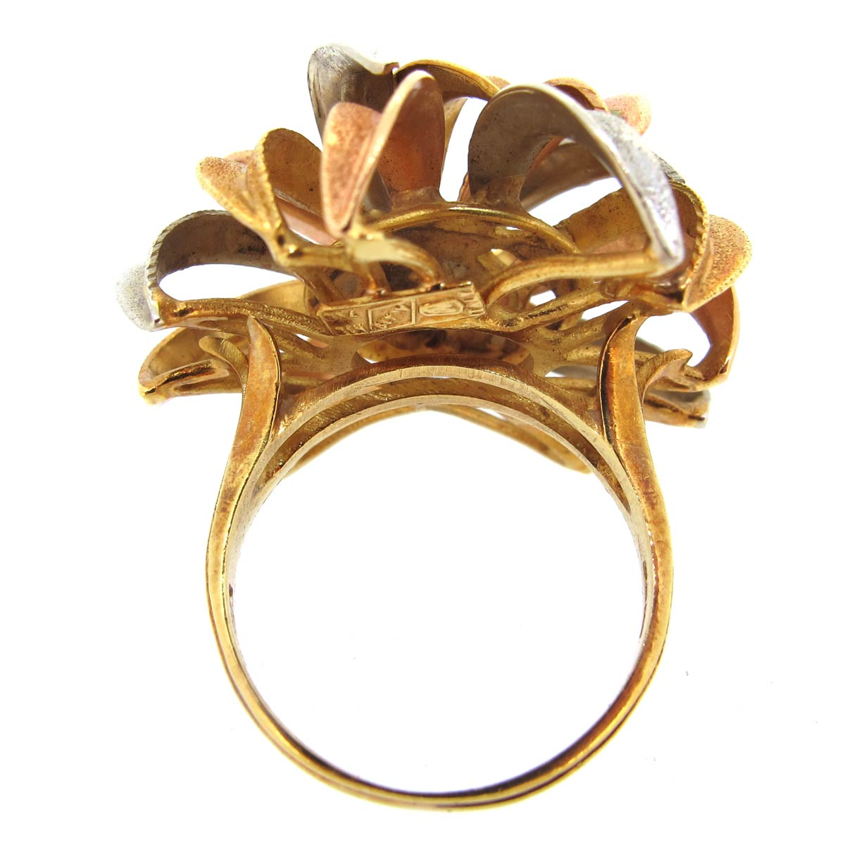 3 Colour Gold Cocktail Ring
