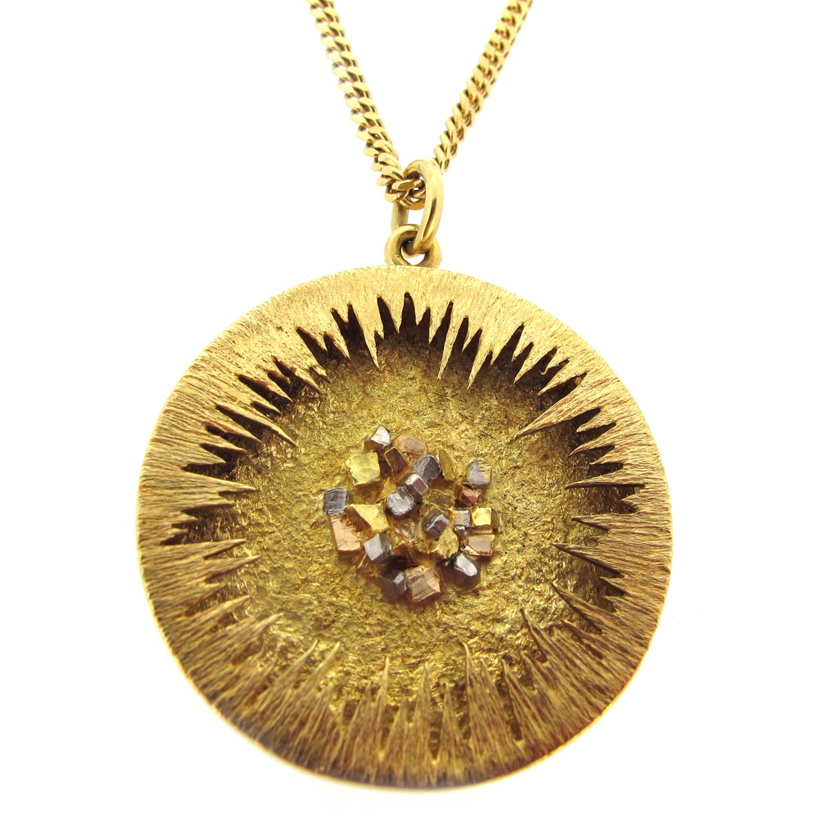 Gold 'Pot Of Gold' Pendant