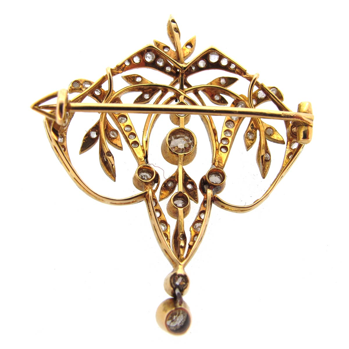 Edwardian Diamond Pendant/ Brooch