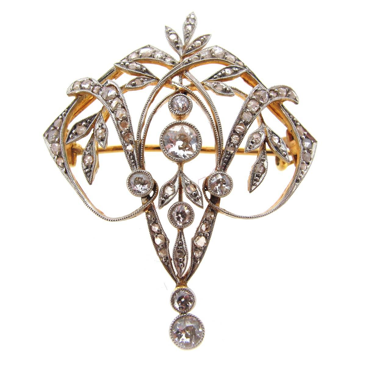 Edwardian Diamond Pendant/ Brooch