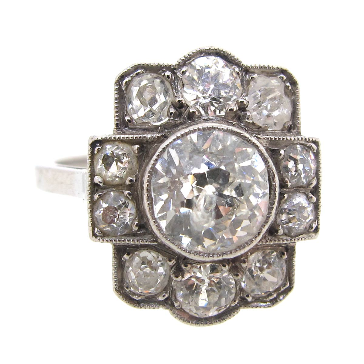 Diamond Tablet Ring