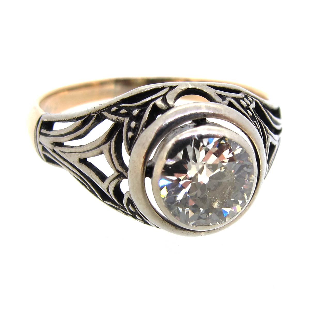 Diamond Art Nouveau Ring