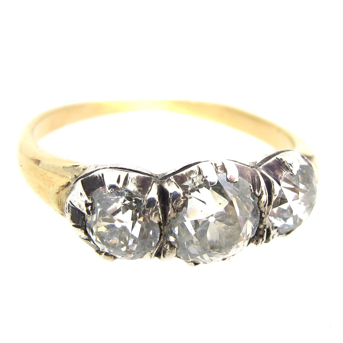 Georgian Diamond Trilogy Ring