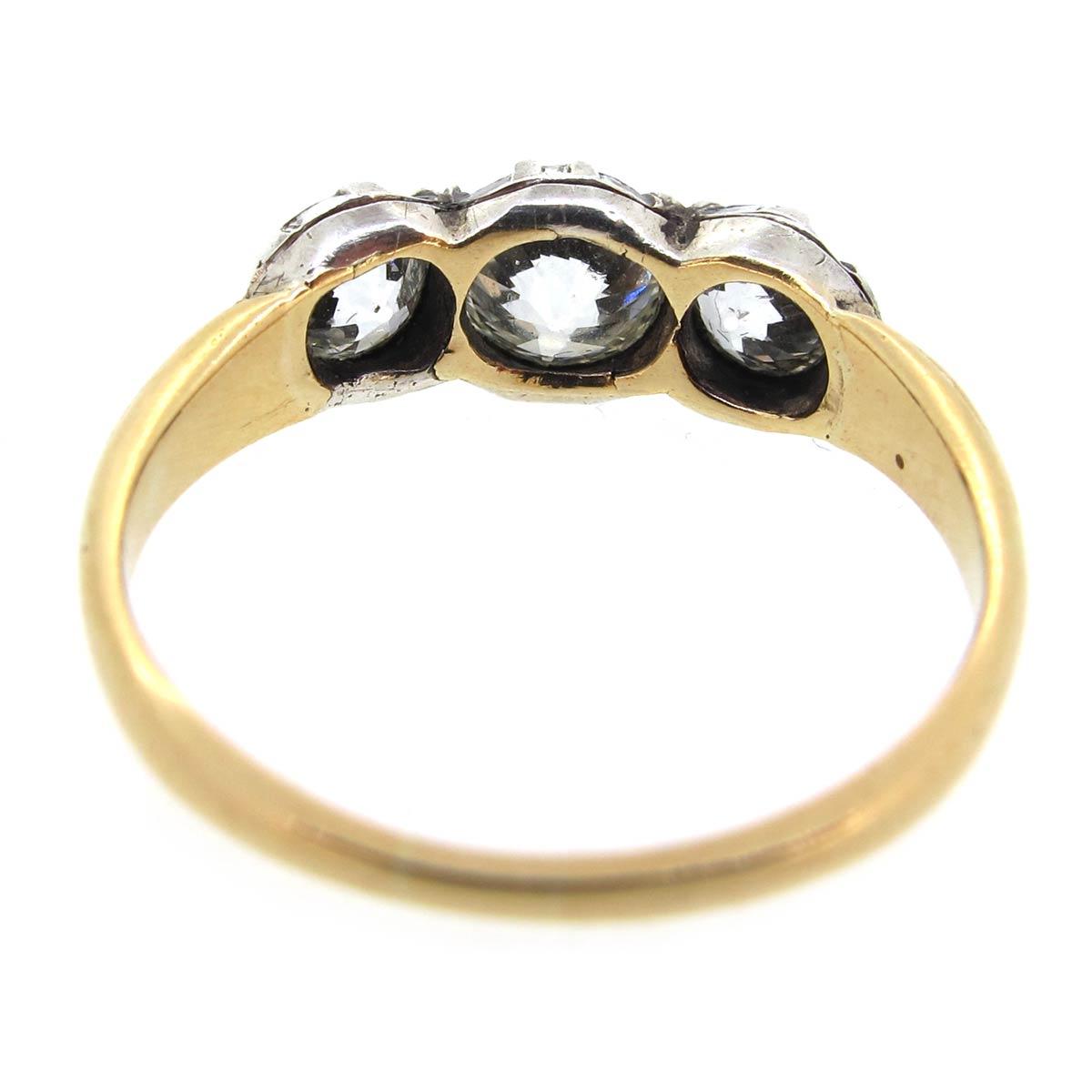 Georgian Diamond Trilogy Ring