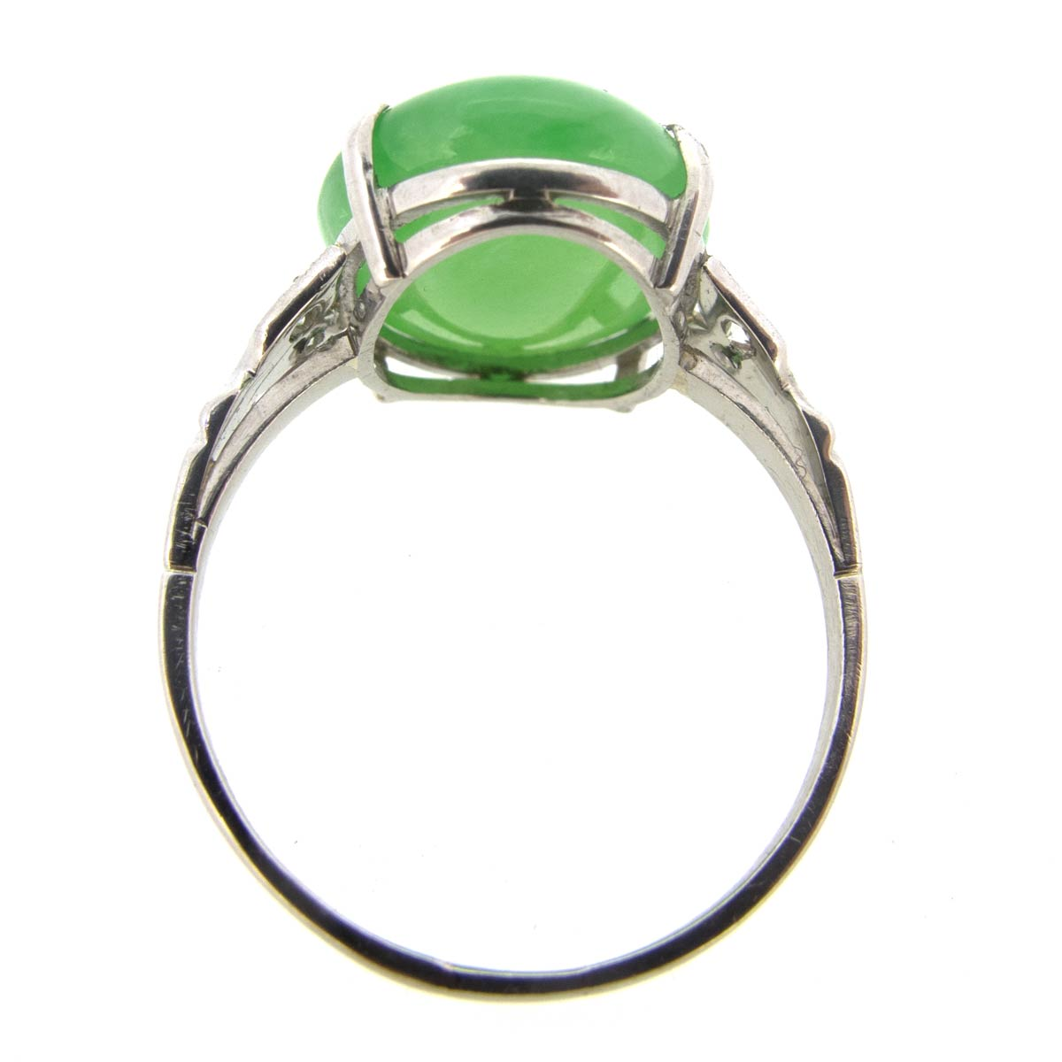 Art Deco Jade & Diamond Ring