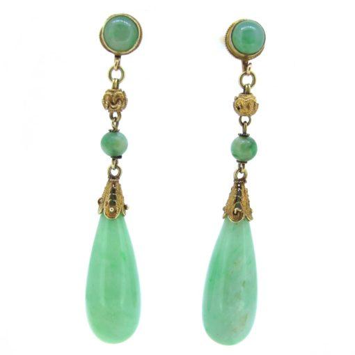 Natural Jade Earrings