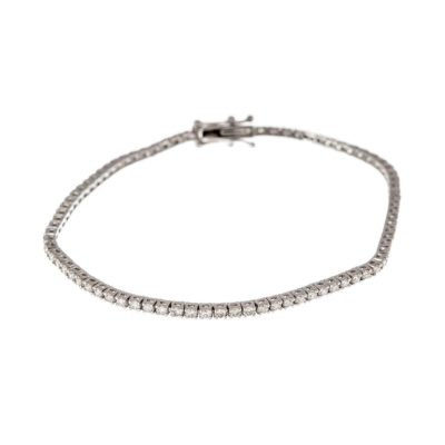18ct white gold and diamond tennis bracelet