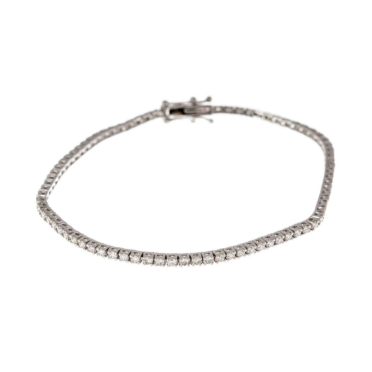 18ct white gold and diamond tennis bracelet
