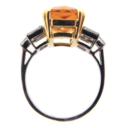 Brazilian Topaz & Diamond Ring