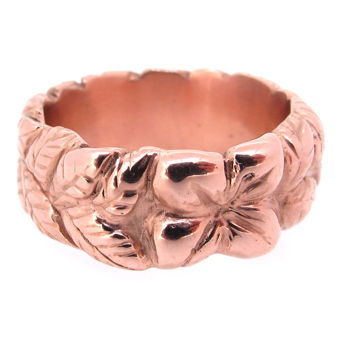 rose gold band ring